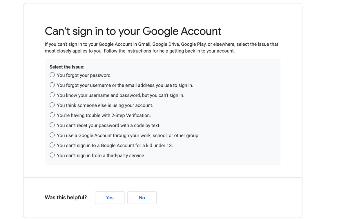 Following one of these issues can help you recover your account.