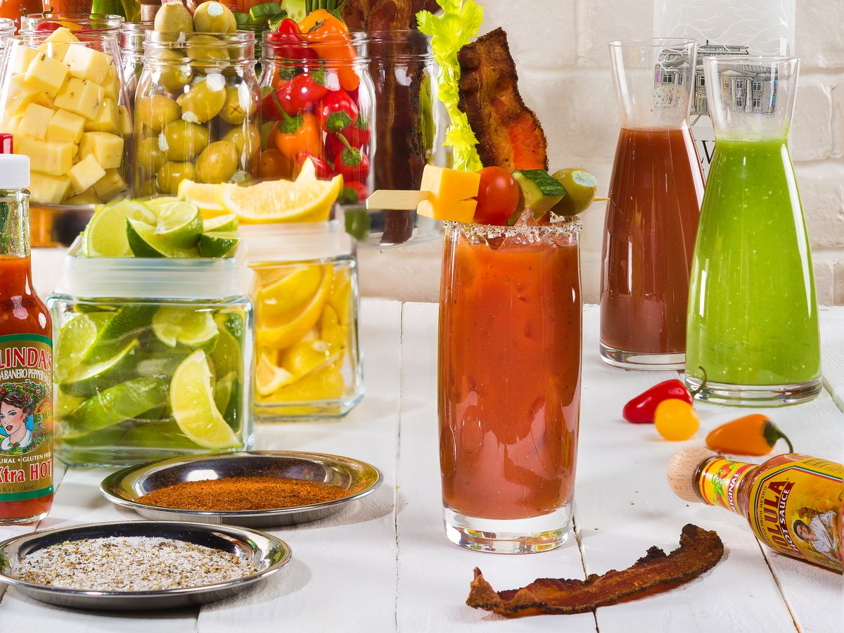 The bloody Mary bar at STK