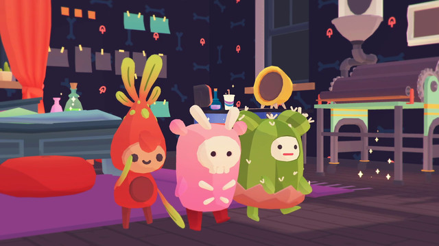 Some ooblets boogie in a dark room