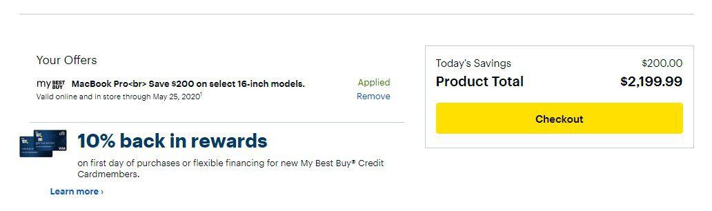 Best Buy deal on the 16-inch MacBook Pro
