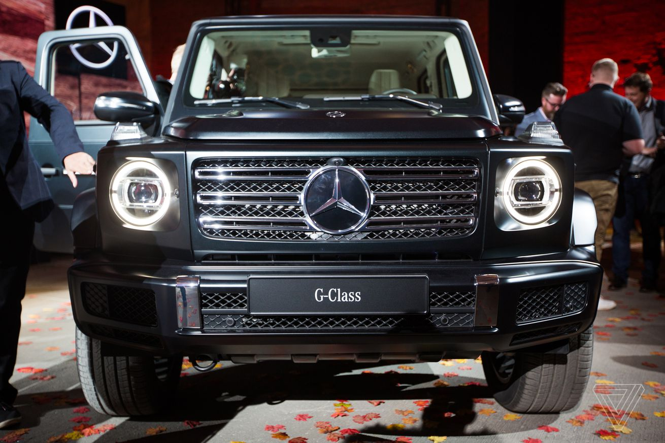 we climbed into the new mercedes benz g wagen