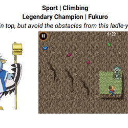 Or you can rock climb against Fukuro, an owl sporting two ladles you might find outside a Shinto shrine.