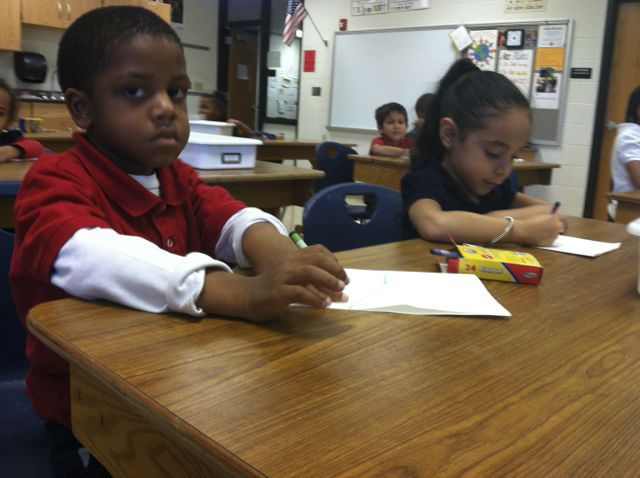 Art class at Key is a critical component of its Multiple Intelligences-inspired program. (Scott Elliott)