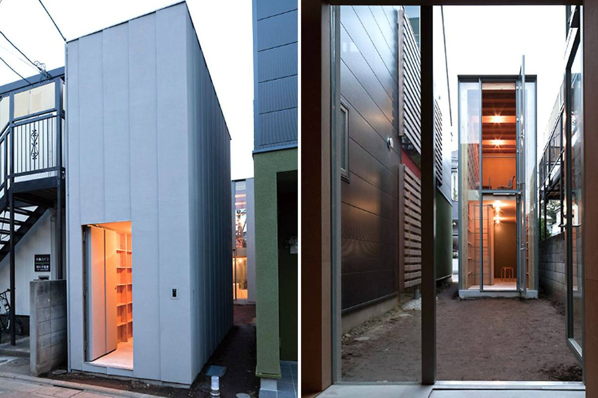 Tiny Home Designs: Tiny Home In Tokyo Is Made Of Two Skinny Structures
