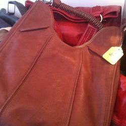 This all-leather bag was only $45. It's probably gone by now...
