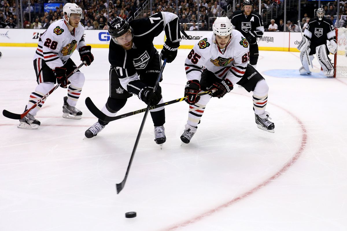 can Andrew Shaw slow down Jeff Carter?