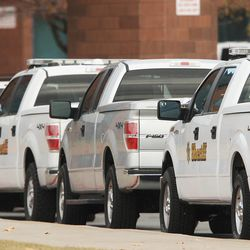 Law enforcement lock down Fremont High School after reports of a student with a gun were made in Ogden Monday, Dec. 1, 2014.