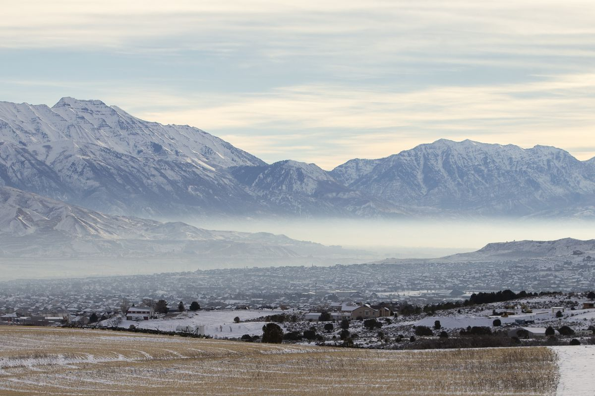 Inversion builds in both Salt Lake and Utah counties on Saturday, Jan. 5, 2019.