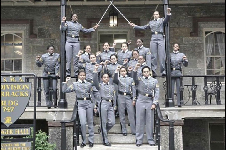 These 16 black women cadets may be punished depending on whether West Point considers a raised fist free speech or political activity.