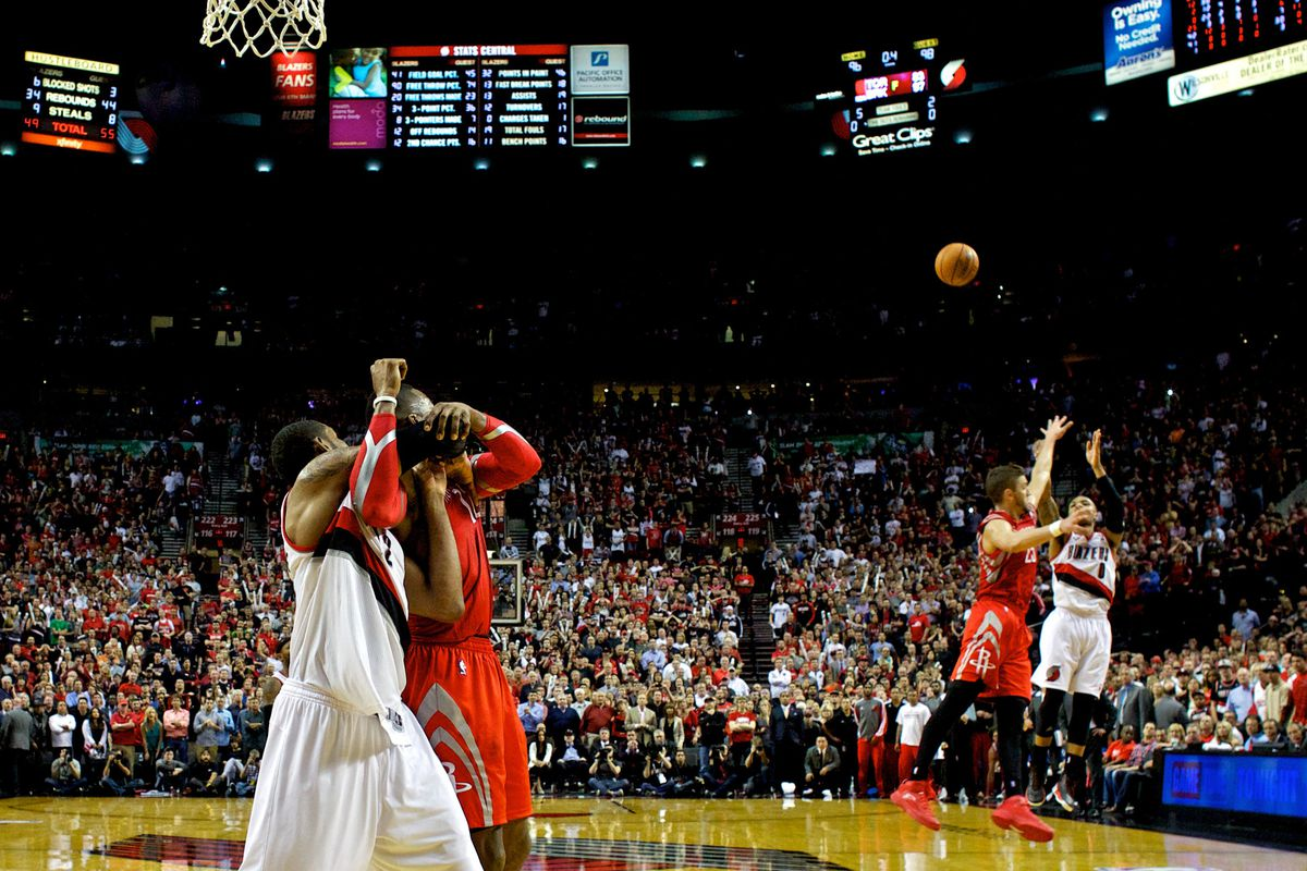 The last memory Houston fans have of Chandler Parsons.