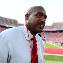Buckeyes AD Gene Smith before the game.