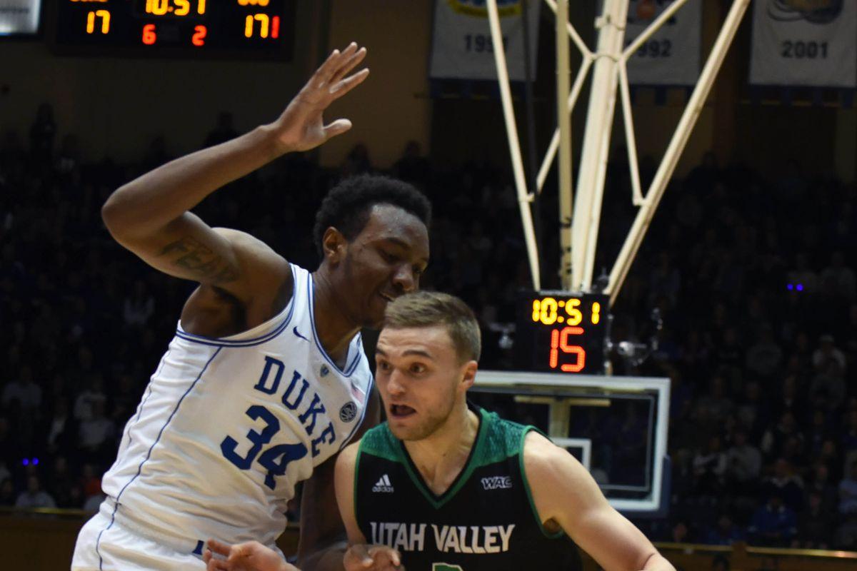 NCAA Basketball: Utah Valley at Duke