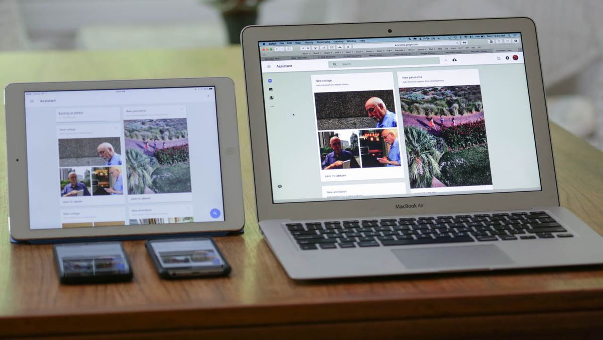 Google Photos runs on Android and Apple mobile devices and PCs.