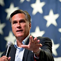Former Massachusetts Governor Mitt Romney appears at a town hall meeting on June 4, 2010 in Mesa, Arizona.
