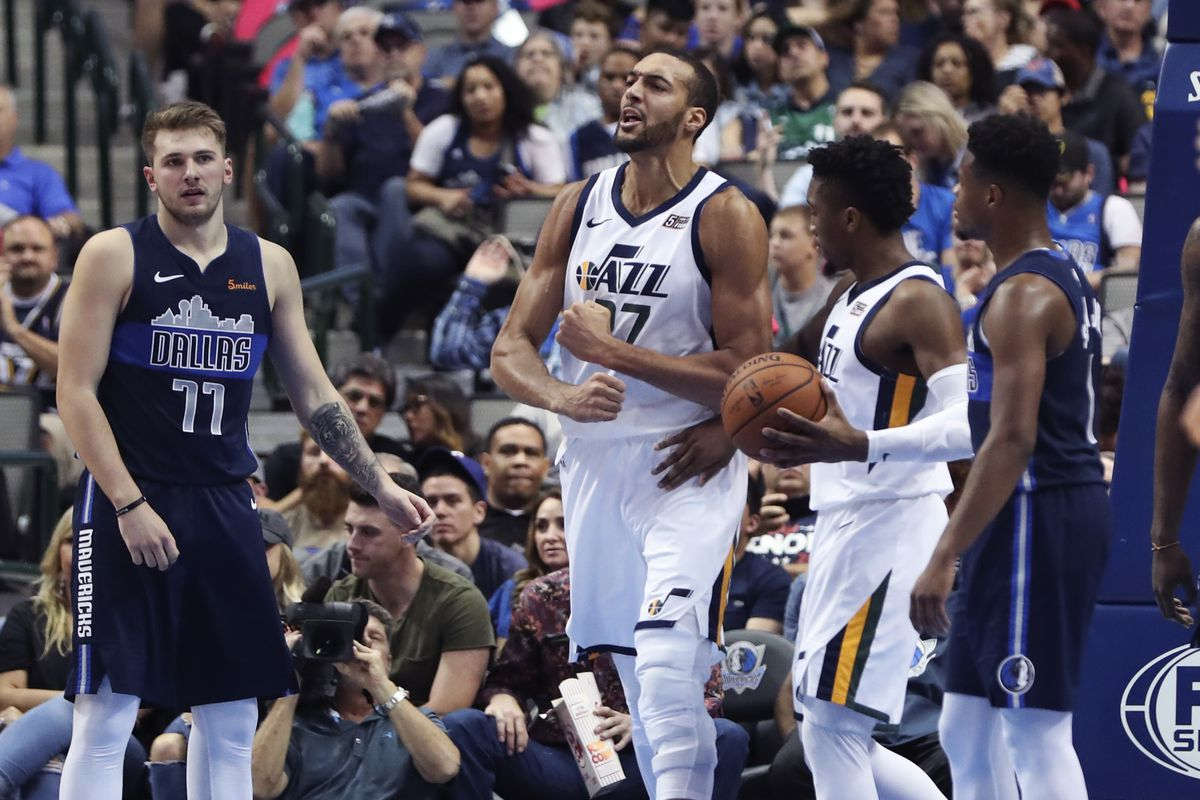 brand new 531d0 dc3ce Rudy Gobert has another monster game, leads Utah Jazz over Dallas Mavericks