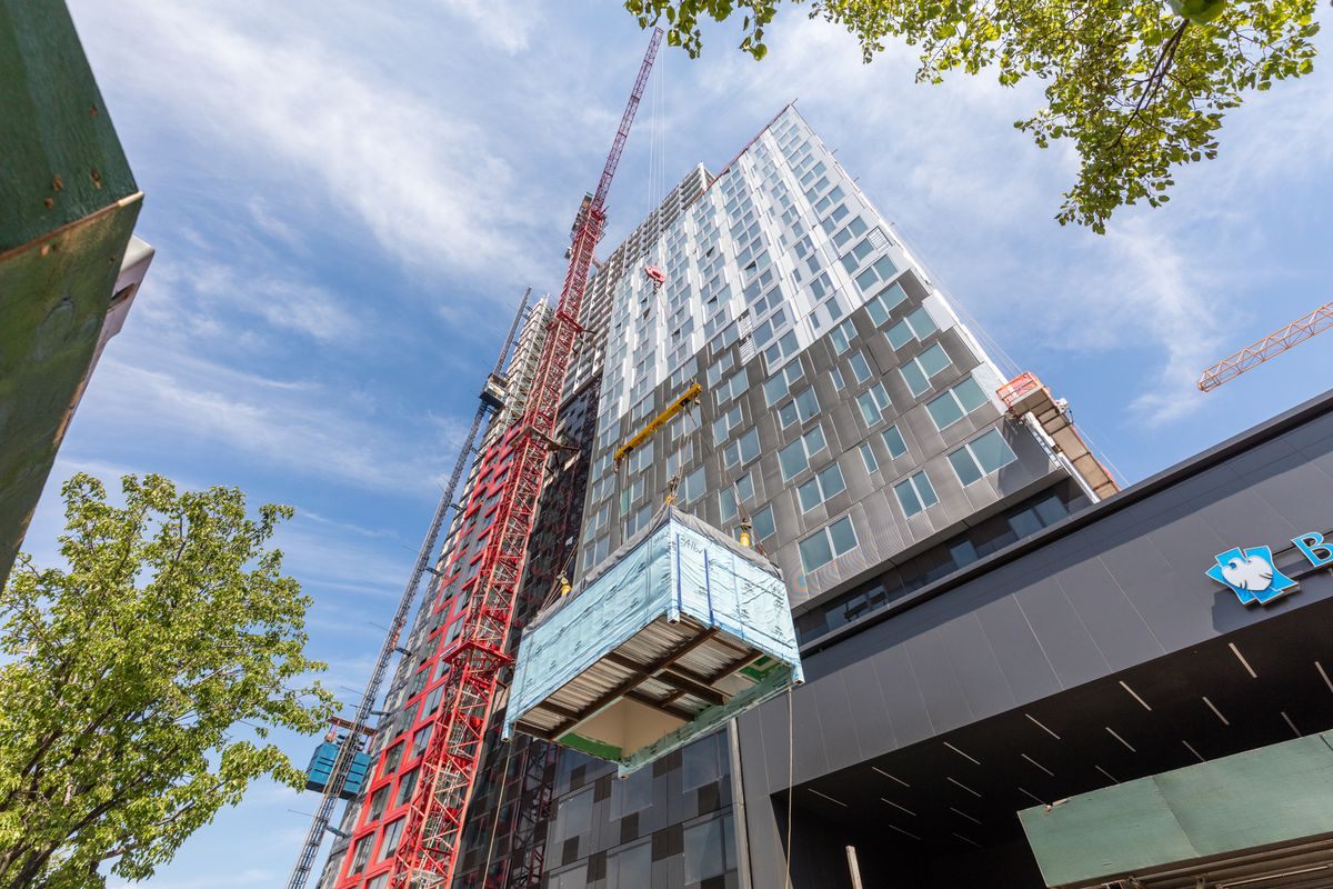 461 Dean Street topped out