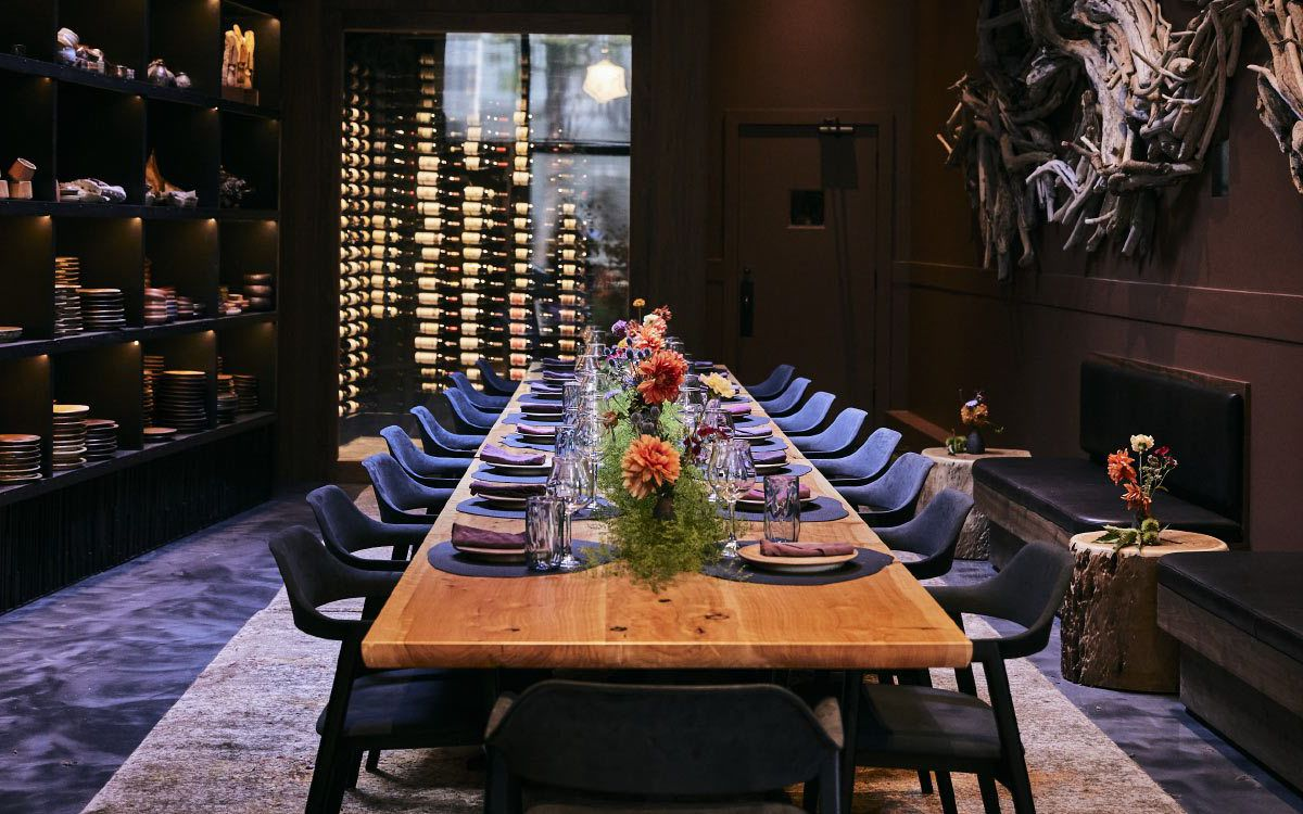The luxurious private dining room at Palette.