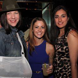 Racked National editor Kerry Folan, Racked NY editor Tiffany Yannetta, and Racked graphic design intern Leyla Novini