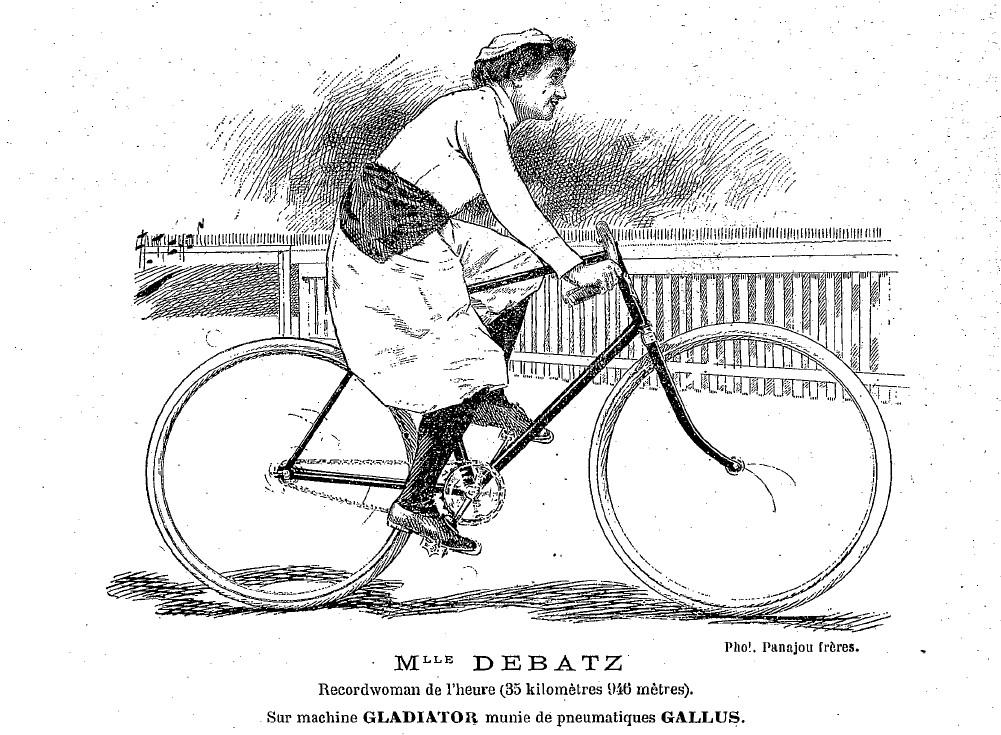 Renée Debatz, as seen by readers of 'Véloce Sport'