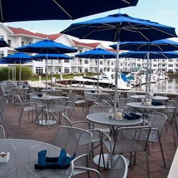 """""""Have brunch at <a href=""""http://www.marinagrandresort.com/bentwood"""">Bentwood Tavern at the Marina Grand</a> [877.945.8600] With a tasty menu—my favorite? The margarita pizza—and great design, the <strong>Bentwood Tavern</strong> is a must-visit. Make sure"""