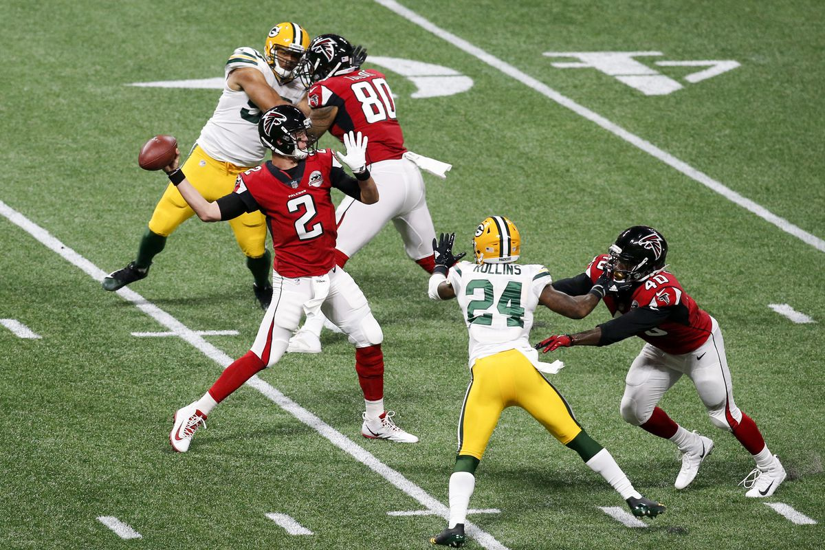 Packers Falcons Final Score Shorthanded Packers Lose 34 23 And Suffer Injuries Galore Acme Packing Company