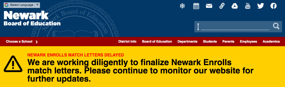 The district posted an alert about the match letters on its website Monday.