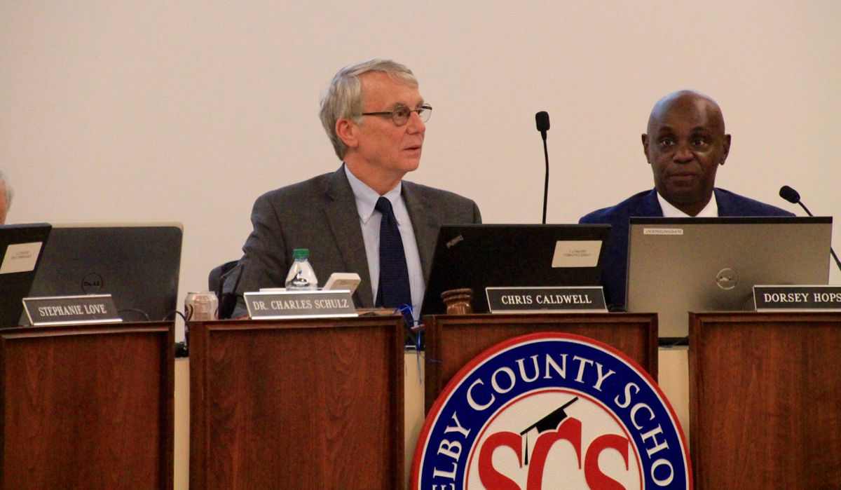 Chairman Chris Caldwell and Superintendent Dorsey Hopson