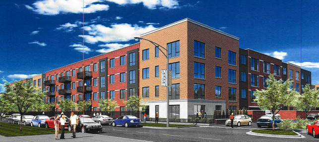 A rendering of homes proposed for 7141 W. Wabansia Ave.