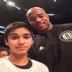 Fahad with Jarrett Jack
