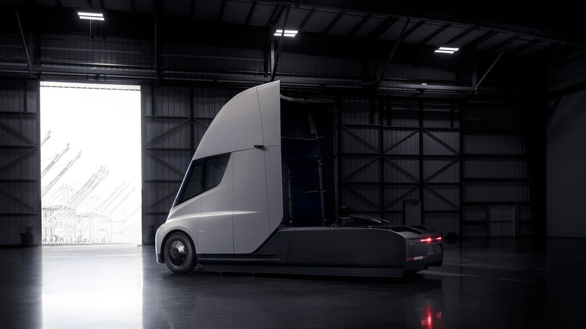 This is the Tesla Semi truck - The Verge
