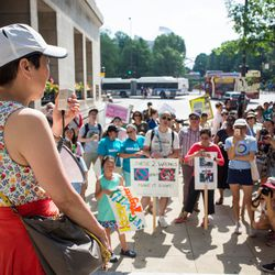 Japanese-American groups march in the Families Belong Together rally.   James Foster/For the Sun-Times
