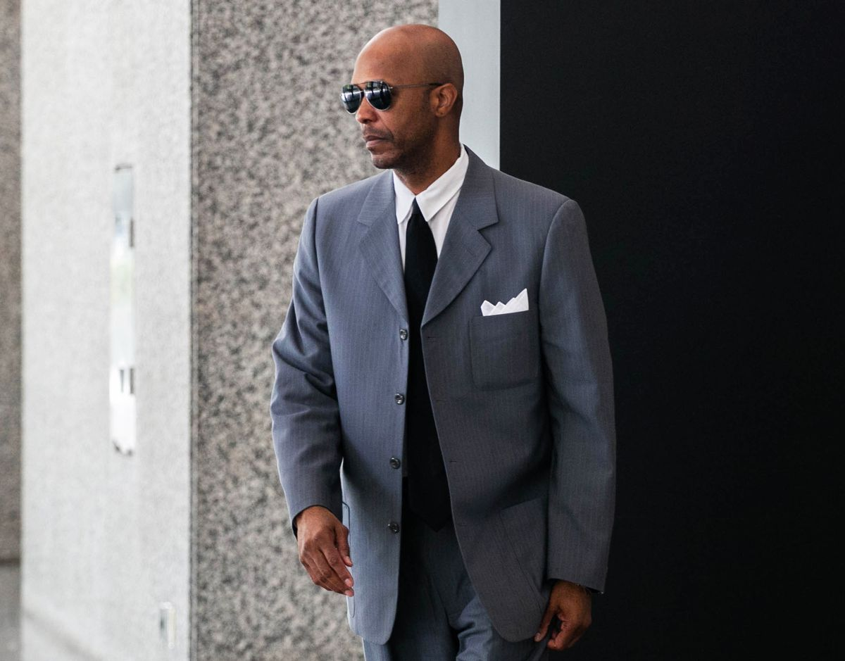"""Former R. Kelly employee Milton """"June"""" Brown leaves the Dirksen Federal Courthouse, July 19, 2019."""