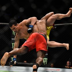 At UFC Fight Night: Manuwa vs. Anderson, Darren Stewart got off to a good start against Francimar Barroso - landing the first and only take down of his young UFC career.<br>