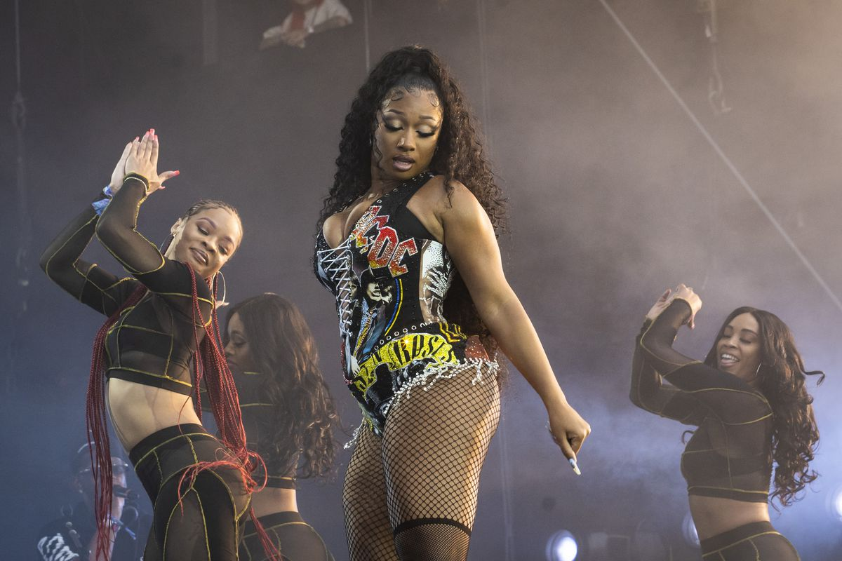 Megan Thee Stallion performs on day three of Lollapalooza