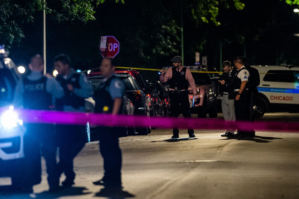 Chicago police investigate a shooting in Chatham.