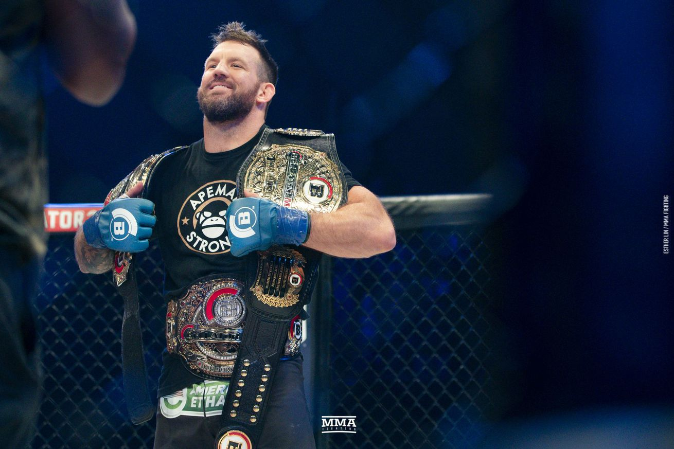 Ryan Bader became Bellator's first champ-champ after beating Fedor Emelianenko in 2019.