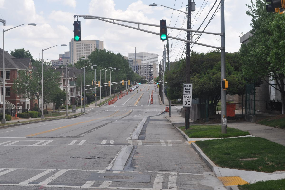 Atlanta's Luckie Street cycle track will soon connect