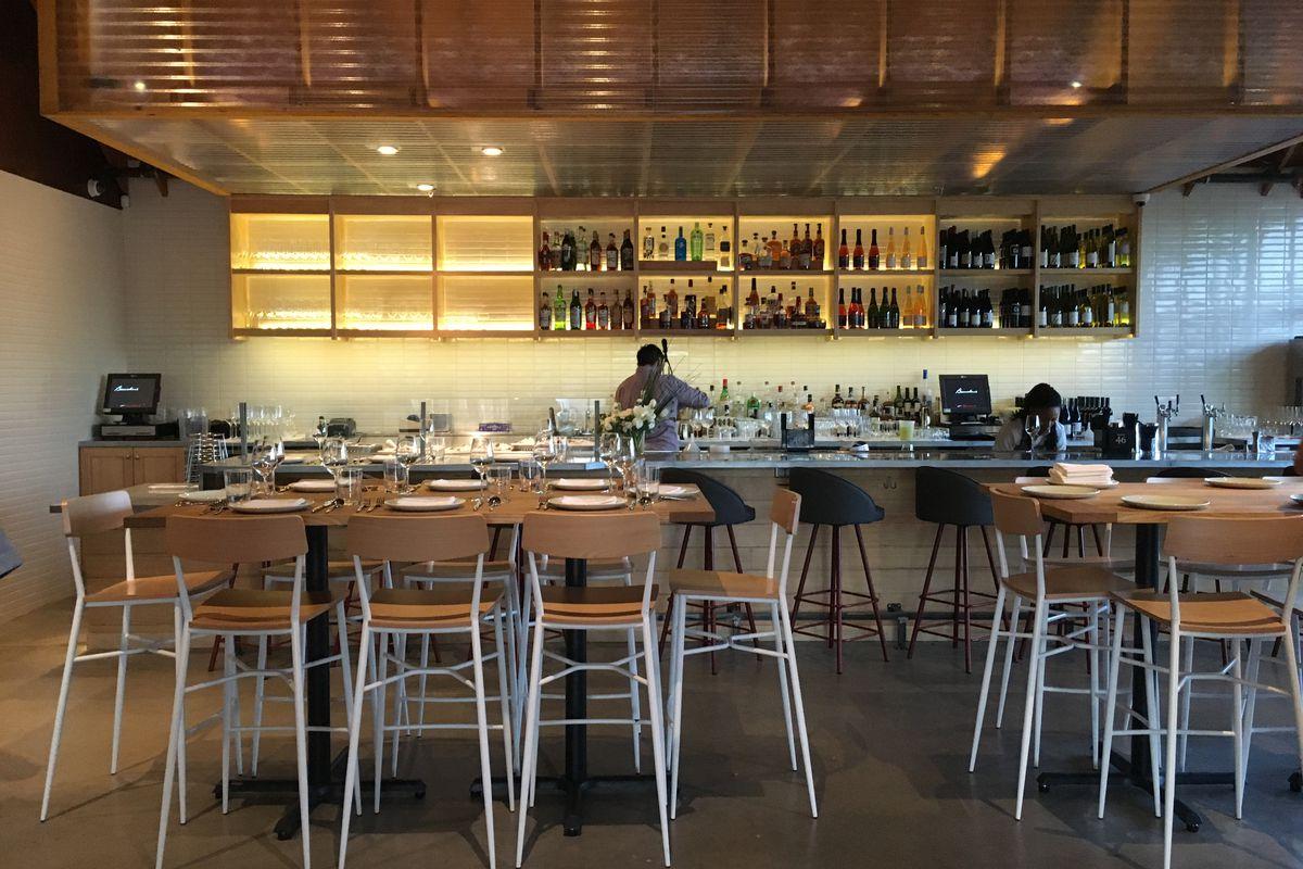 Bar and raw bar at Bernadine's