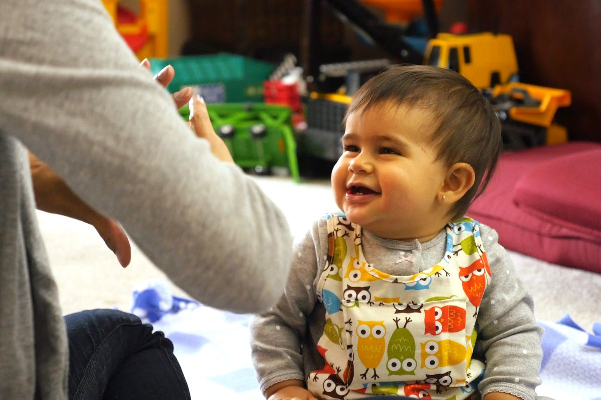 This baby is wearing a LENA vest, designed to position a recording device close to the infant's chest where it will document 16 hours of noises—speaking, singing, crying, television—that software will turn into a streamlined feedback report for parents.