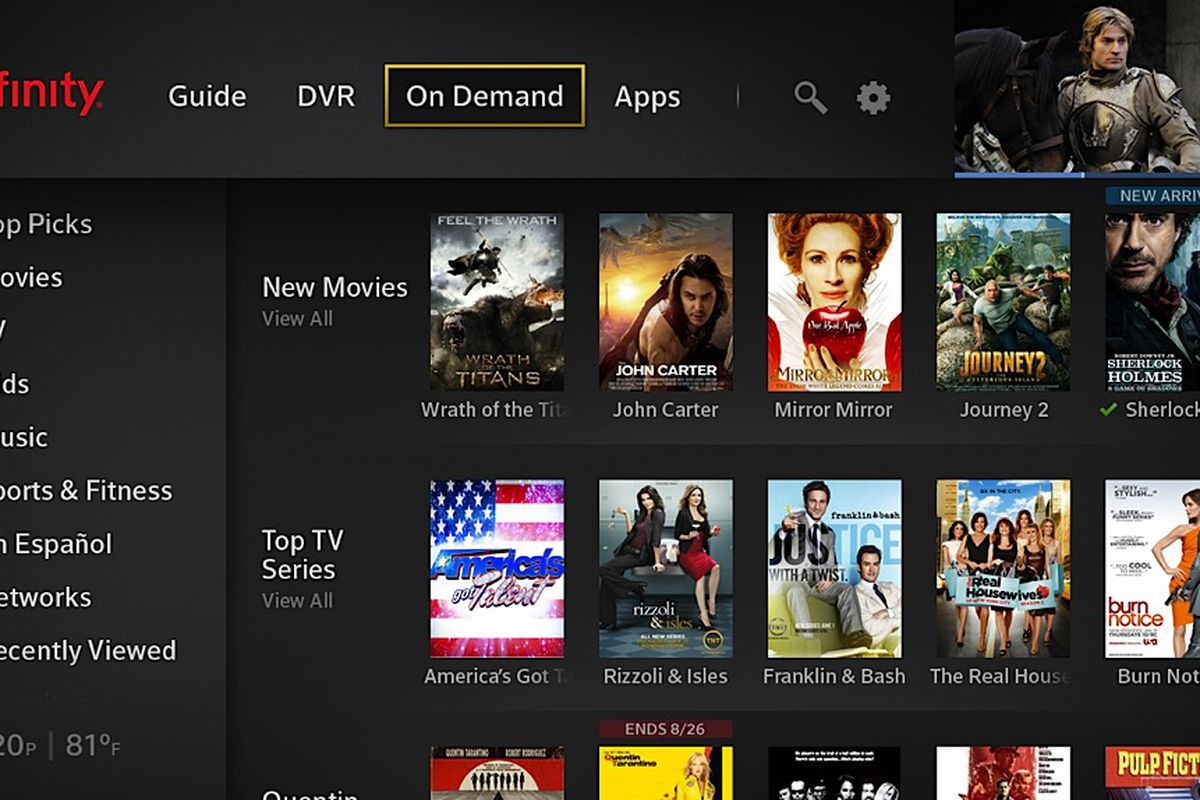 Comcast's new X1 UI integrates real-time and streaming TV with news