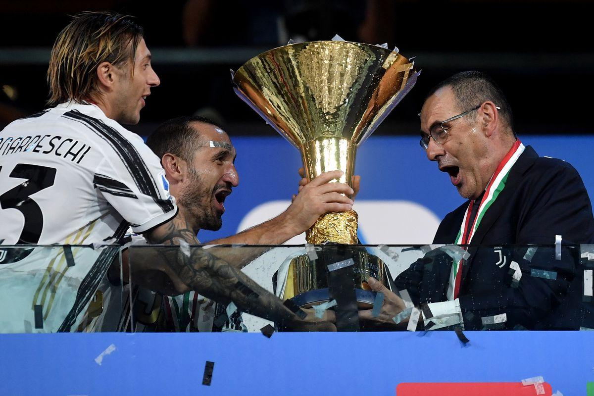 Federico Bernardeschi, Giorgio Chiellini and the coach...