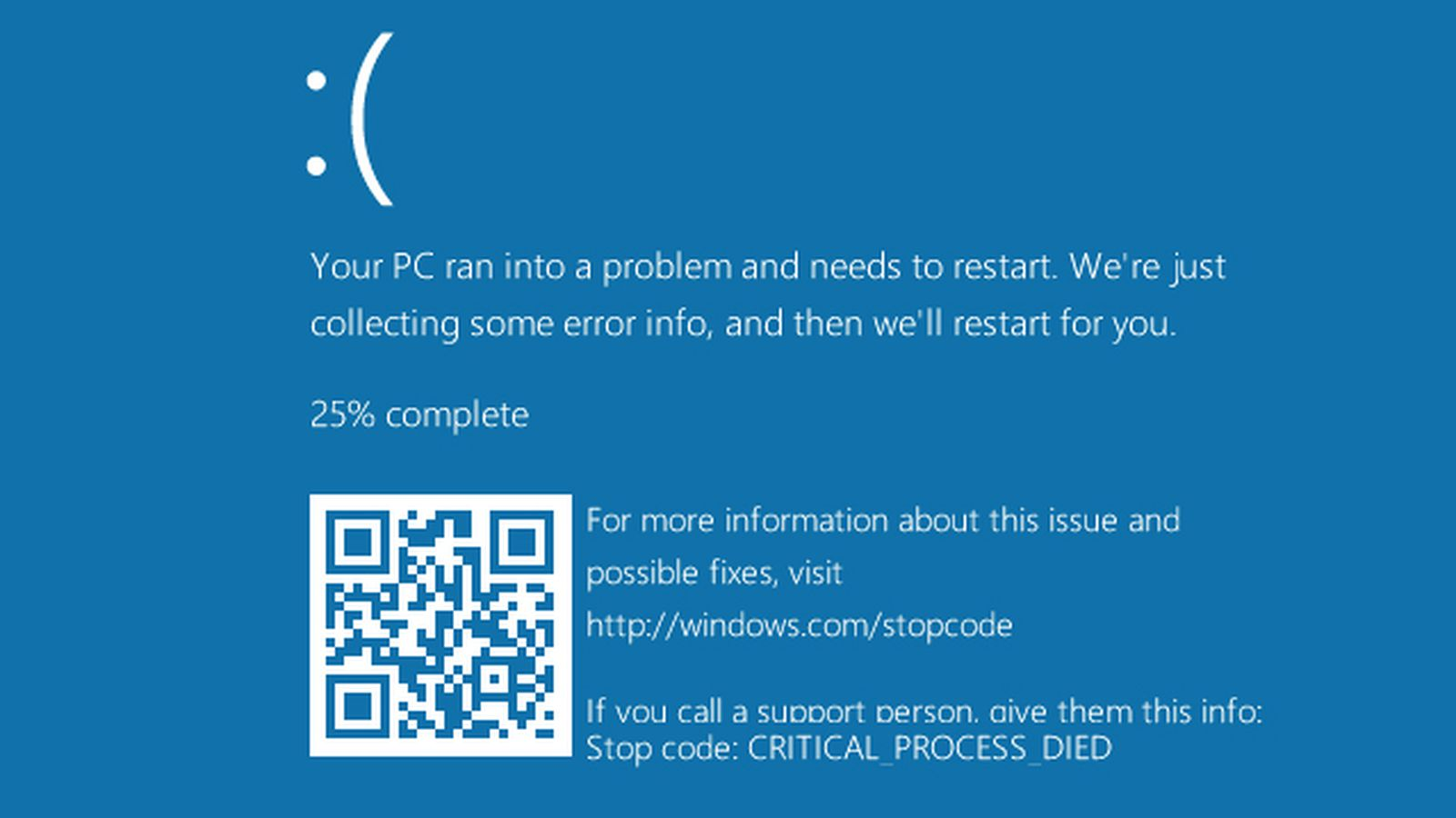 Microsoft Adds Qr Codes To The Windows 10 Blue Screen Of
