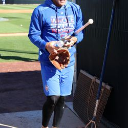 Addison Russell leaves Field 2 at Riverview Park, the Spring Training home of the Chicago Cubs, in Mesa, AZ.   John Antonoff/For the Sun-Times