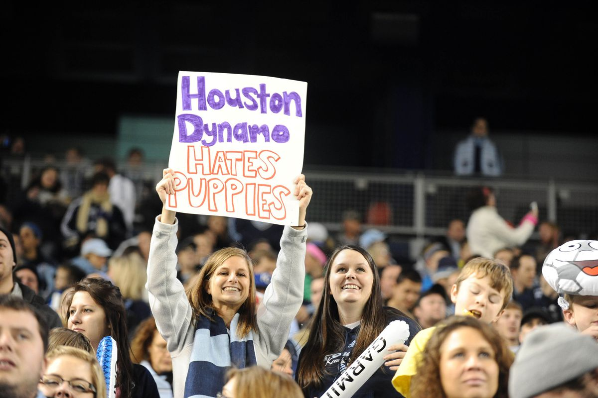 While they might hate puppies, Sounders fans are supporting the Dynamo this week.