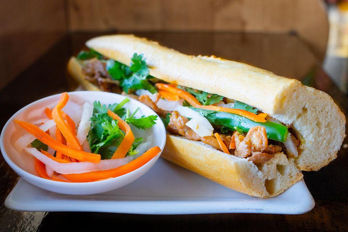 Grilled pork banh mi from Ng Cafe