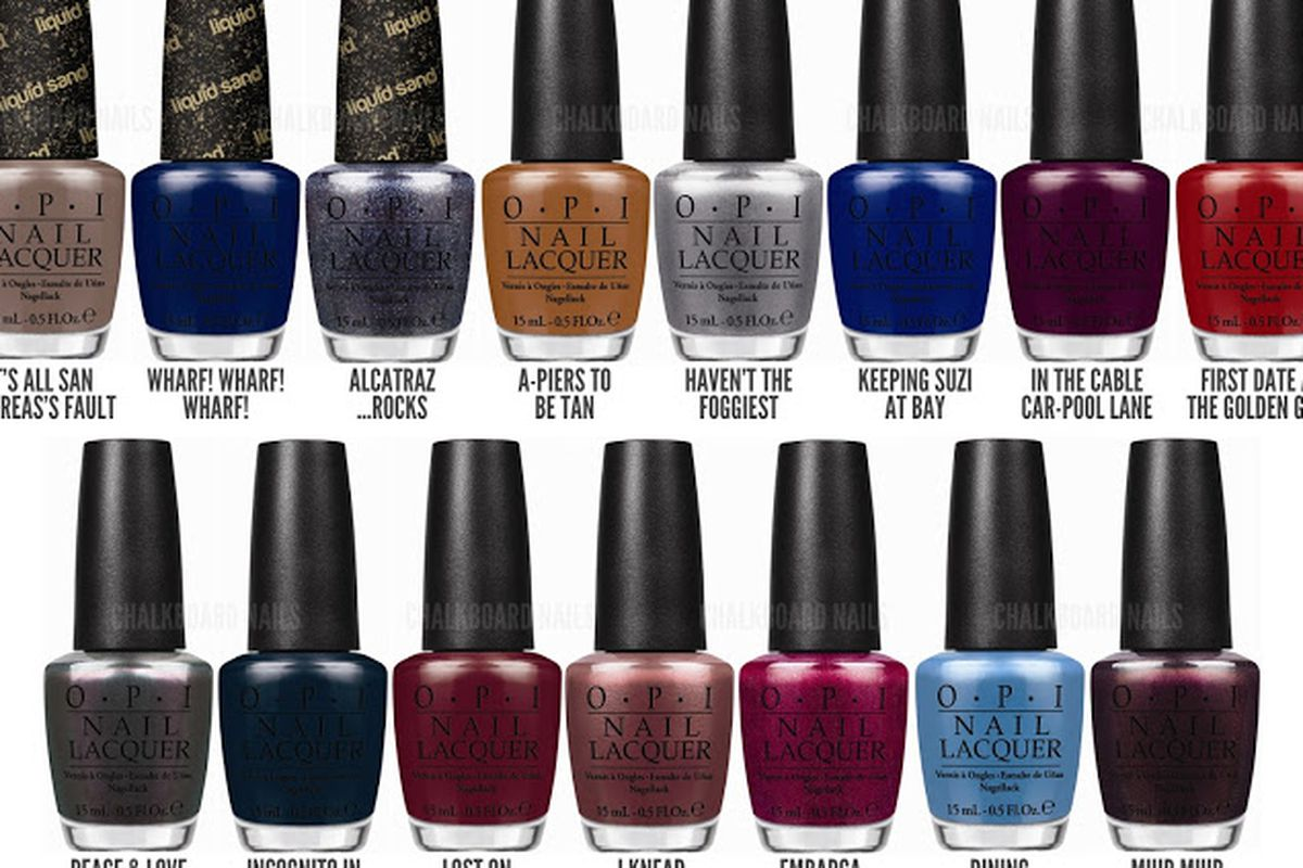OPI Celebrates SF With 12 New Bay-Inspired Nail Colors