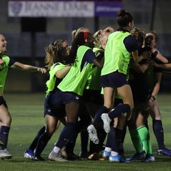 The UConn Huskies take on the Lowell River Hawks in a women's college soccer game at Cushing Field Complex in Lowell, MA on September 20, 2019.