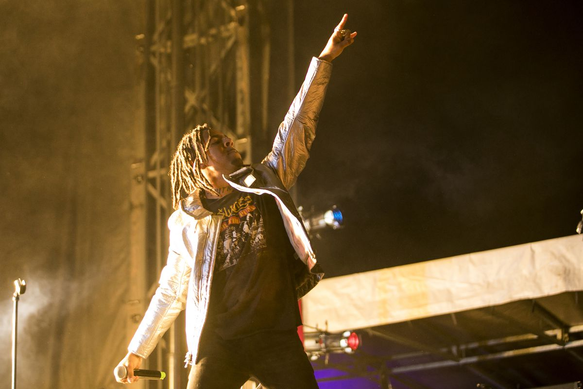 Vic Mensa performs on Friday on the first day of Riot Fest in Douglas Park. | Ashlee Rezin/Sun-Times