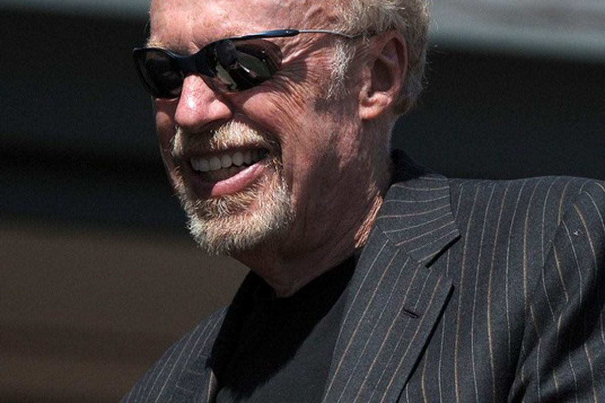 May 12, 2012; Eugene, OR, USA; Nike co-founder Phil Knight at the 2012 Pac-12 Championships at Hayward Field. Mandatory Credit: Kirby Lee/Image of Sport-US PRESSWIRE