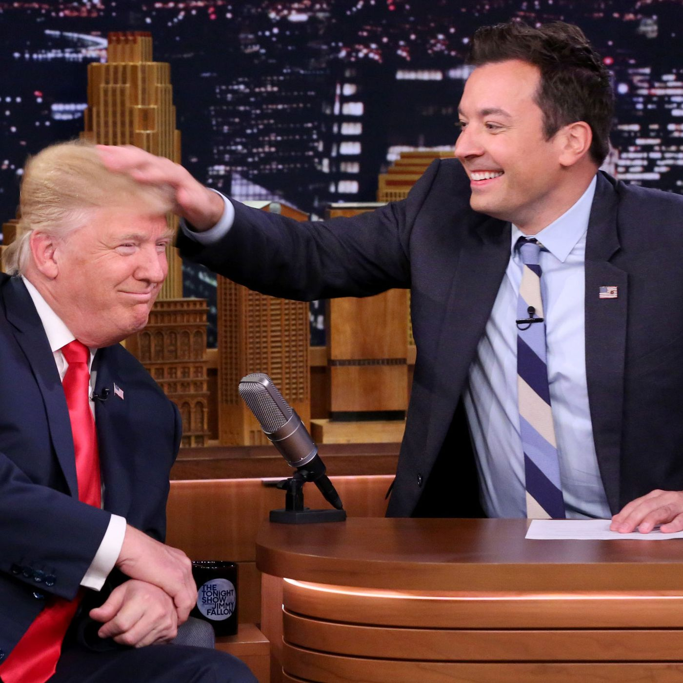 Image result for jimmy fallon trump hair